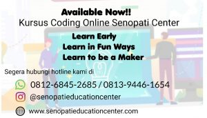 Coba gratis Kursus Coding Online Senopati Center