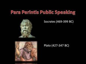 Scorates perintis public speaking